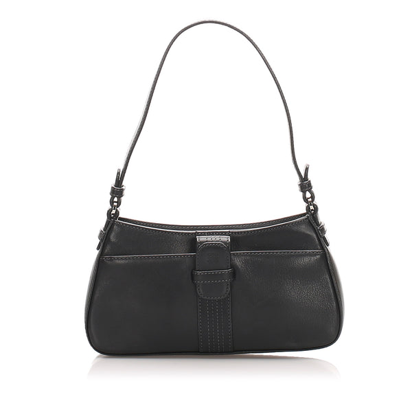 Black Loewe Anagram Leather Baguette