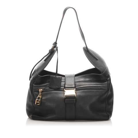 Black Loewe Leather Shoulder Bag