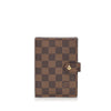 Brown Louis Vuitton Damier Ebene Agenda PM
