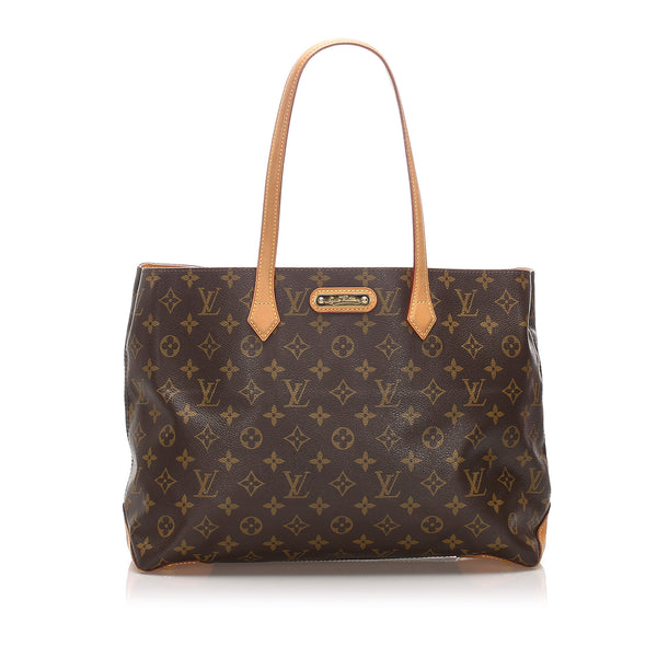 Brown Louis Vuitton Monogram Wilshire MM Bag