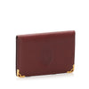 Red Cartier Must De Cartier Leather Card Case