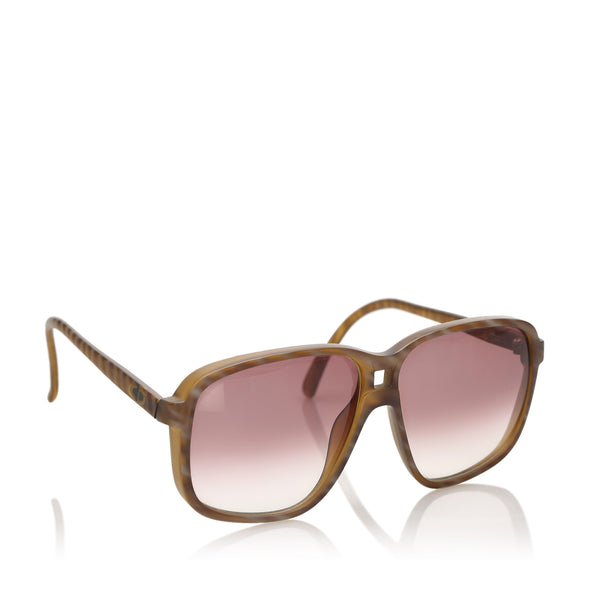 Brown Dior Square Tinted Sunglasses