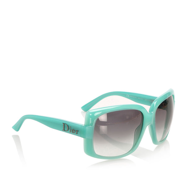 Green Dior Square Tinted Sunglasses