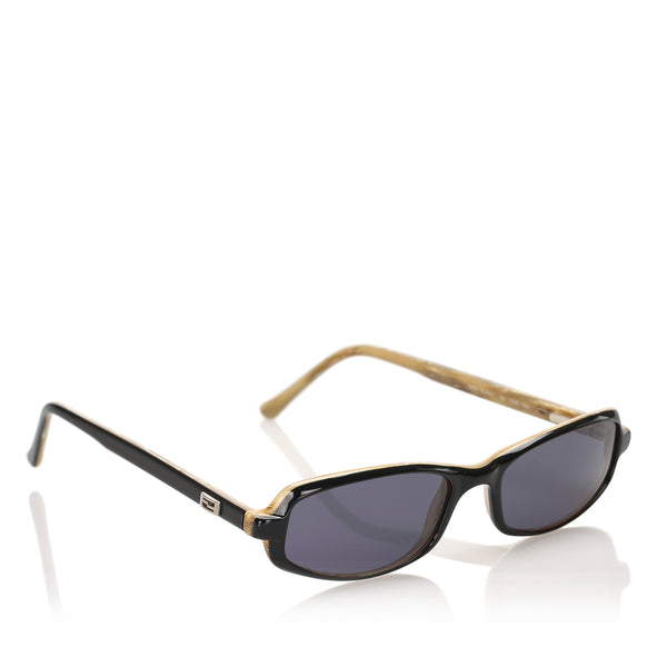 Black Fendi Round Tinted Sunglasses
