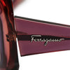 Green Ferragamo Round Tinted Sunglasses