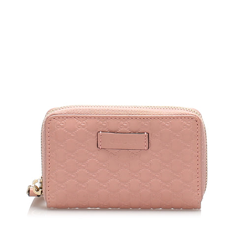 Pink Gucci Microguccissima Card Holder