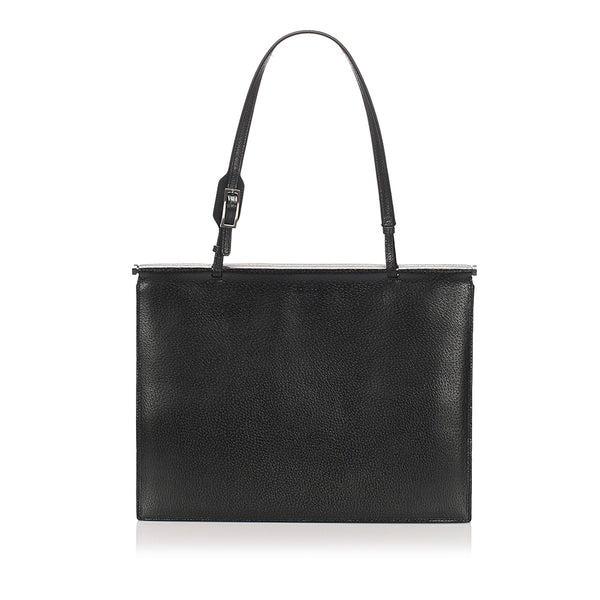 Black Gucci Leather Tote Bag
