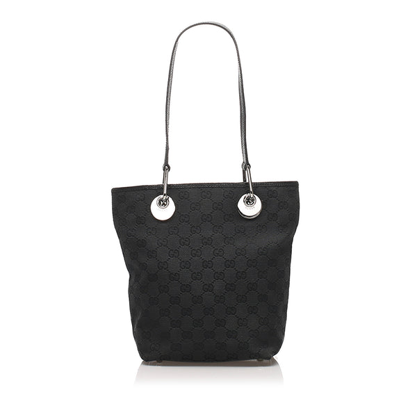 Black Gucci GG Canvas Eclipse Tote Bag