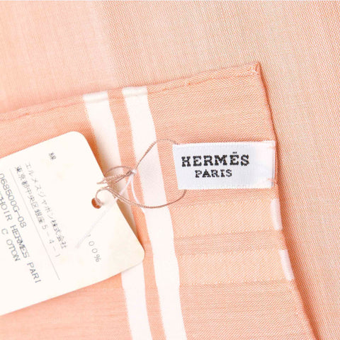 Pink Hermes Cotton Handkerchief