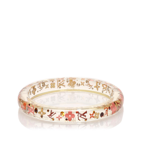 Red Louis Vuitton Monogram Inclusion Bangle