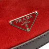 Red Prada Suede Shoulder Bag