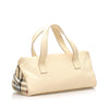 White Burberry Leather Handbag Bag