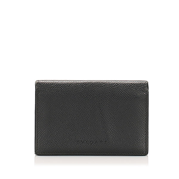 Black Bvlgari Leather Card Holder