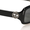 Black Chanel Rectangle Tinted Sunglasses