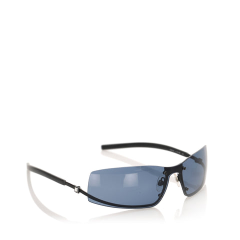 Black Chanel Square Tinted Sunglasses