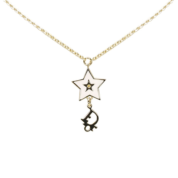 Gold Dior Star Pendant Necklace