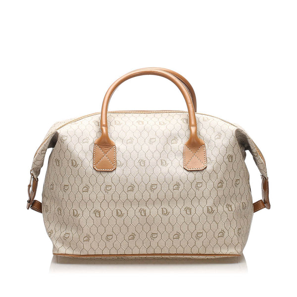 Brown Dior Honeycomb Coated Canvas Travel Bag