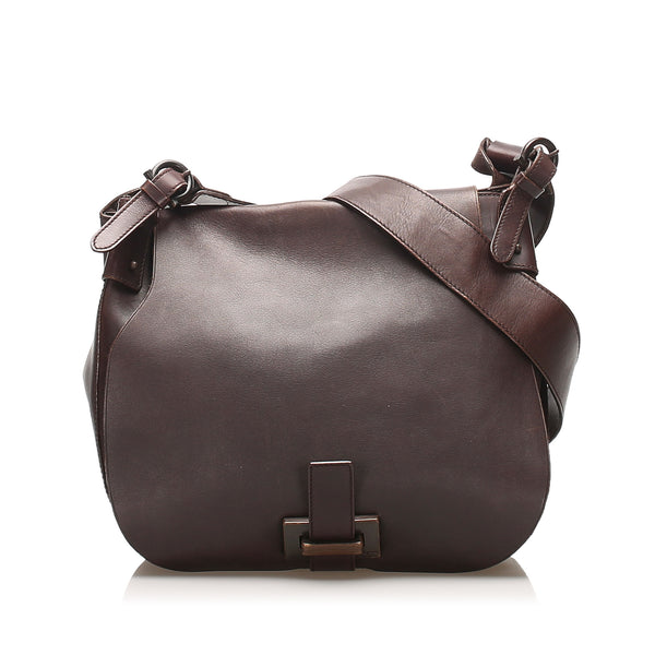 Brown Ferragamo Leather Crossbody Bag
