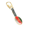 Gold Gucci Web Key Chain