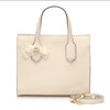 White Gucci GG Marmont Ribbon Leather Satchel Bag