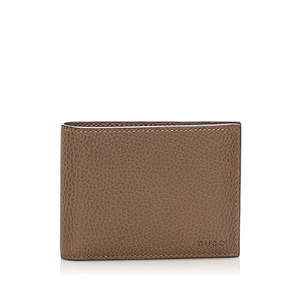 Brown Gucci Bi-fold Leather Small Wallet