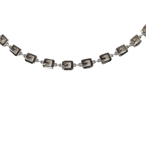 Silver Givenchy Double G Link Necklace