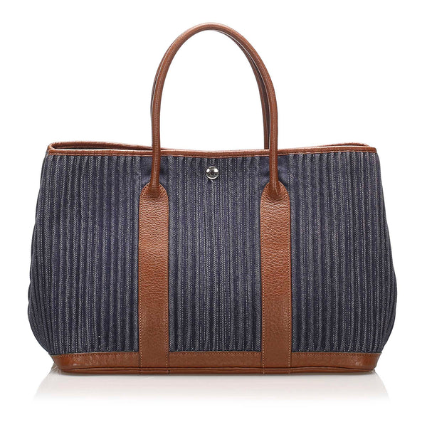 Blue Hermes Garden Party PM Bag