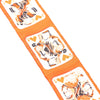 Red Hermes Jeu de Cartes Twilly Silk Scarf