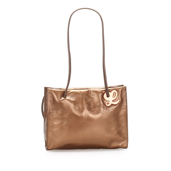 Brown Loewe Leather Tote Bag