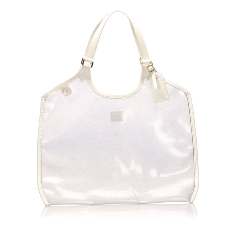 White Louis Vuitton Epi Plage Baia Bag