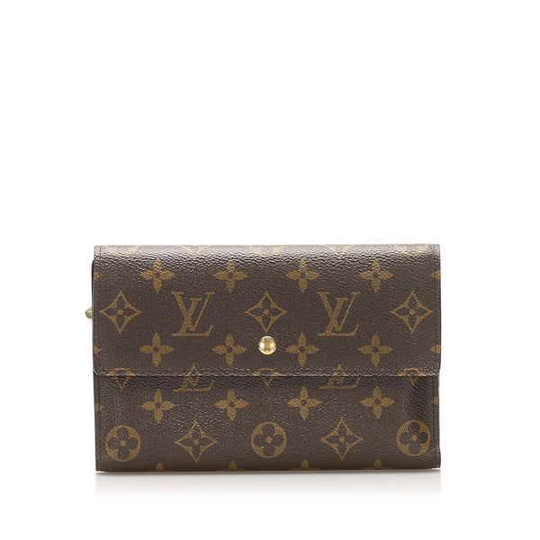 Brown Louis Vuitton Monogram Sarah Wallet