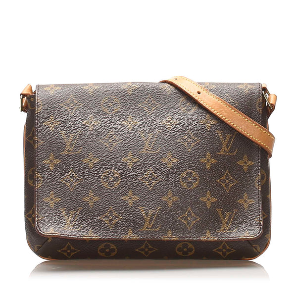 Brown Louis Vuitton Monogram Musette Tango Short Strap Bag