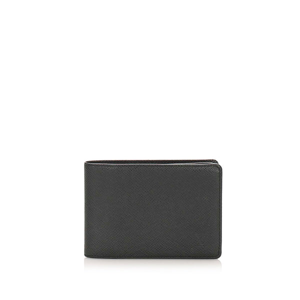 Black Louis Vuitton Bi-fold Taiga Small Wallet