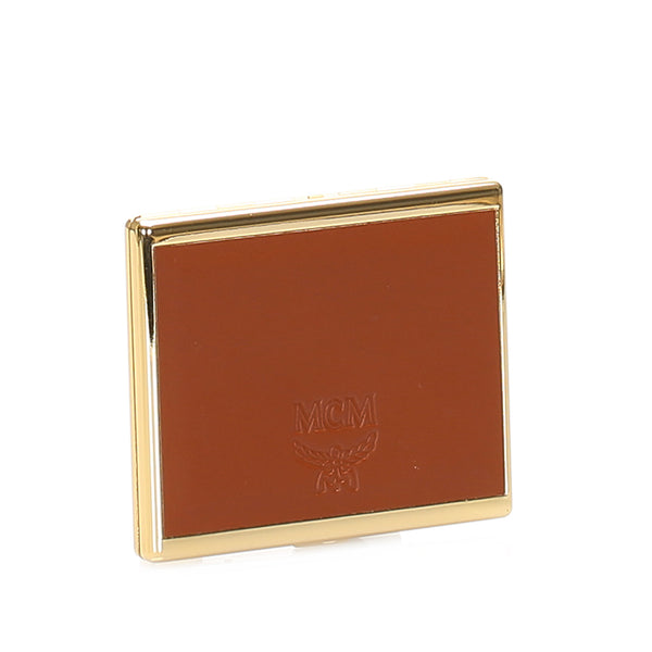 Gold MCM Leather Cigarette Case
