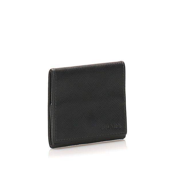Black Prada Saffiano Small Wallet