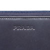 Blue Prada Zip Around Leather Small Wallet
