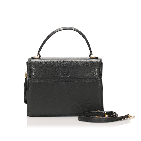 Black Valentino Leather Satchel Bag