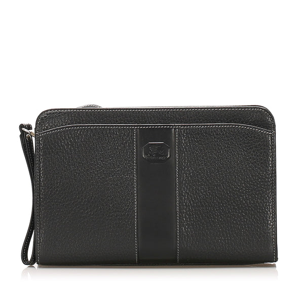 Black Burberry Leather Clutch Bag