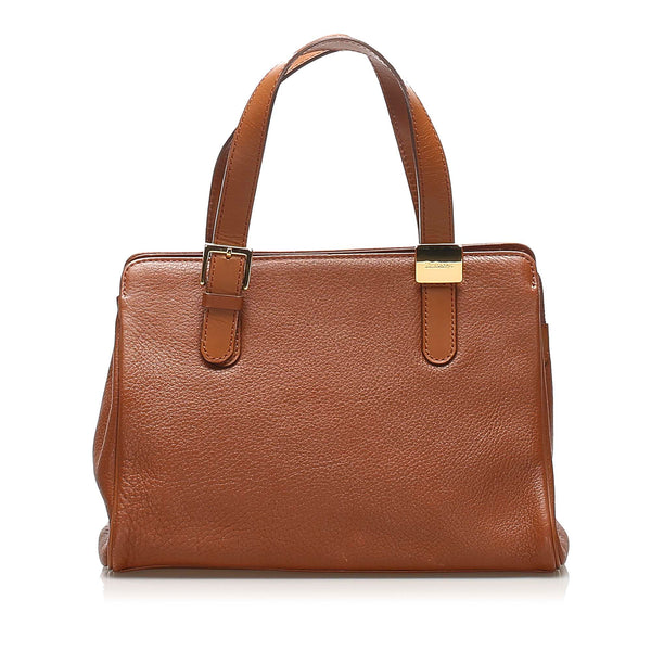 Tan Burberry Leather Handbag Bag