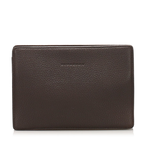 Black Burberry Leather Pouch