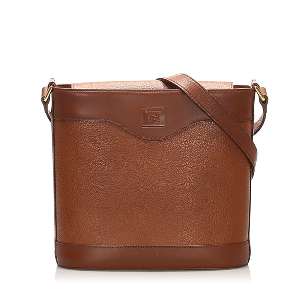 Brown Burberry Leather Crossbody Bag