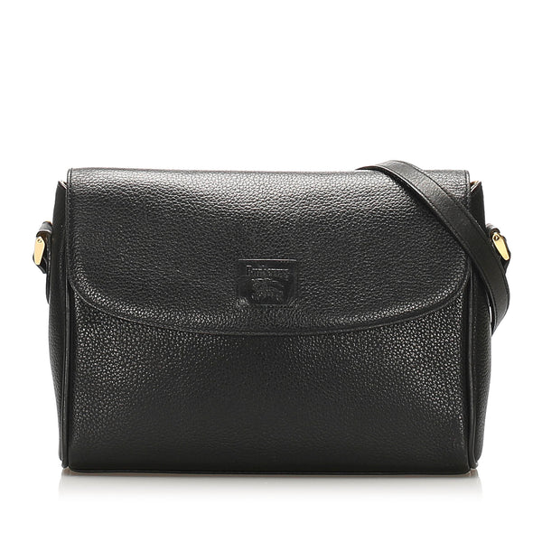 Black Burberry Leather Crossbody Bag