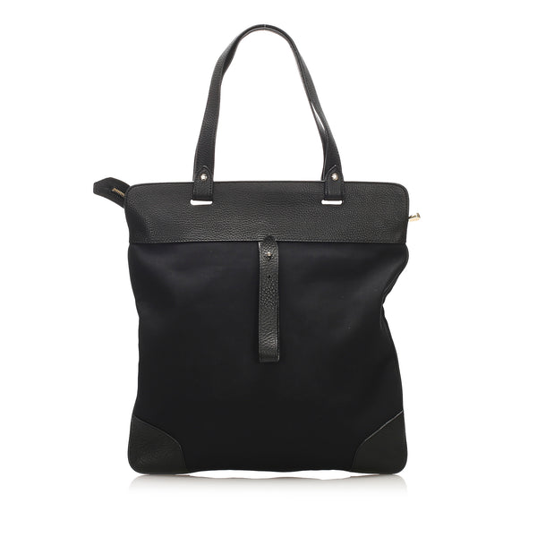 Black Burberry Canvas Tote Bag