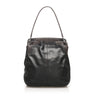 Black Cartier Python Leather Shoulder Bag