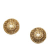 Gold Chanel CC Clip-on Earrings