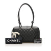 Black Chanel Cambon Ligne Handbag Bag