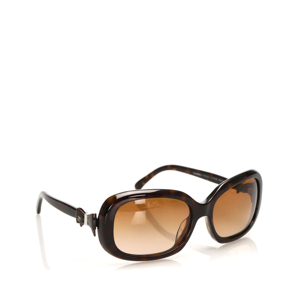 Brown Chanel Round Tinted Sunglasses