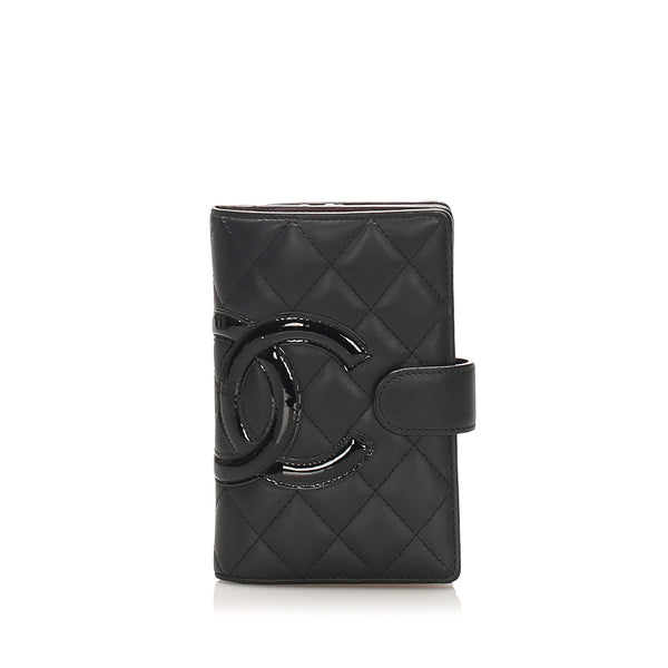 Black Chanel Cambon Ligne Leather Small Wallet
