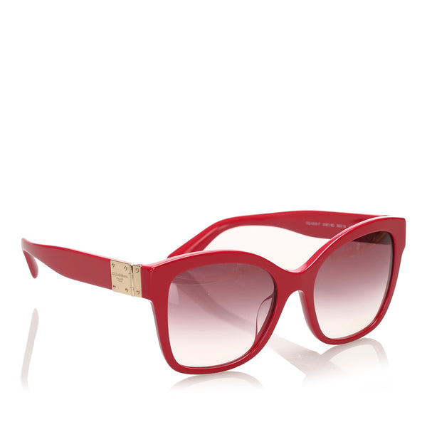 Red Dolce&Gabbana Square Tinted Sunglasses