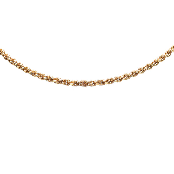 Gold Dior Gold-tone Chain Necklace